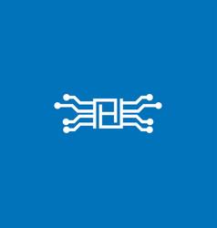 Letter h tech logo icon design template vector
