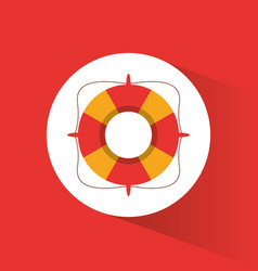 Lifebuoy safety vacations symbol vector