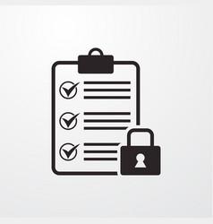 Locked blank sign icon blank symbol flat vector