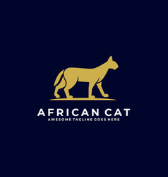 logo african cat silhouette vector image