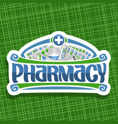 logo for pharmacy vector image