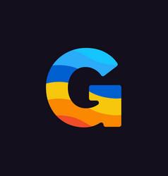 logo letter g colorful blue red orange vector image