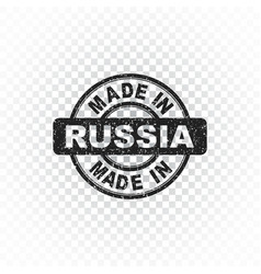 Made in russia stamp on isolated background vector