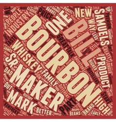 Maker Mark American Whiskey text background vector image