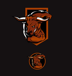 minotaur the raging bull symbol vector image