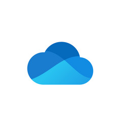 Modern blue cloud icon design vector