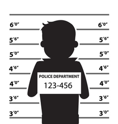 Mugshot Of Silhouette Man vector image