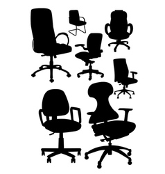 office chair silhouetts vector image