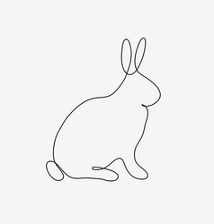outline rabbit on white vector image