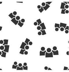 people communication icon seamless pattern vector image