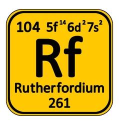 Periodic table element rutherfordium icon vector