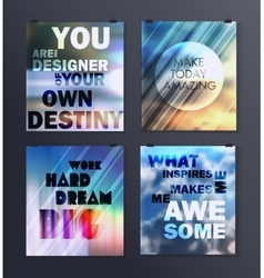 Quote Typographical galaxy Background vector