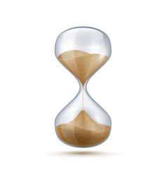 Realistic hourglass 3d sand clock old-fashioned vector