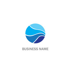 Round abstract blue water sign logo vector