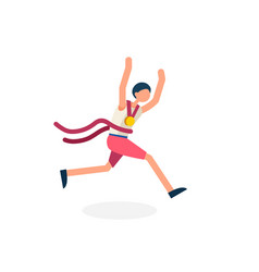 runner athlete symbol vector image