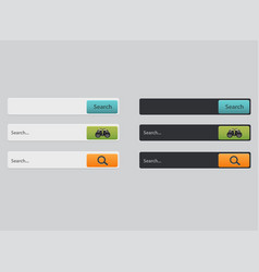 search bars templates set search results vector image