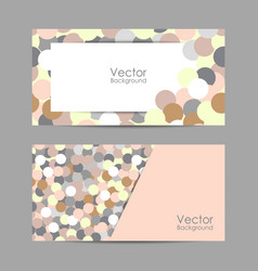 set banners with circles vector image
