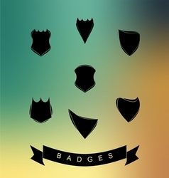 Set of Blank Badge vector image