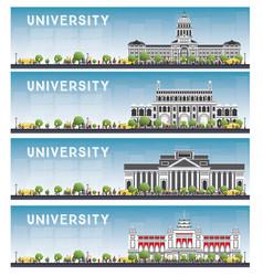 Set university study banners vector