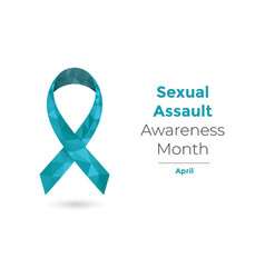 Sexual assault awareness month april concept vector