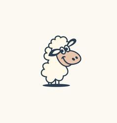 sheep logo template vector image