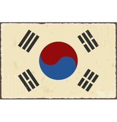 South Korean grunge flag vector