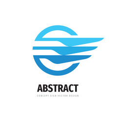 speed wing - logo template concept vector image