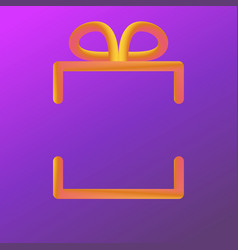square gradient giftbox made from circle blending vector image