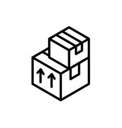 stacked cardboard boxes delivery icon thick line vector image