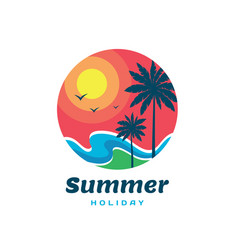summer holiday - concept business logo template vector image