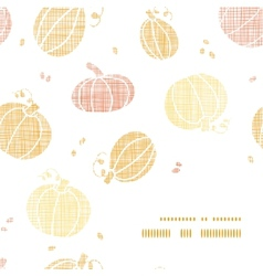 Thanksgiving pumpkins textile frame corner pattern vector