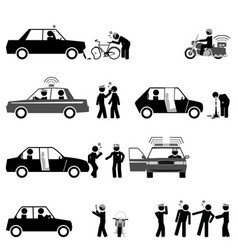 traffic police control road safety and sobriety vector image