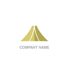triangle abstract company logo vector image