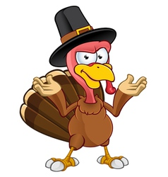 Turkey Mascot Confused vector image