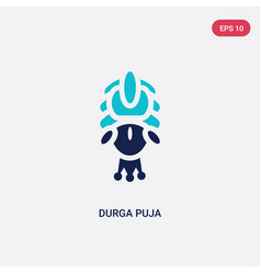 Two color durga puja icon from india concept vector