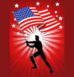 united states america flag bearer vector image
