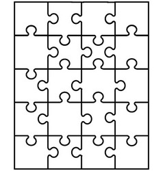 white puzzle 9 vector image