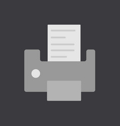 Writing machine icon flat design vector