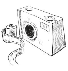 Analogue photo camera icon vector image