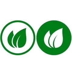 green leaf signs vector image