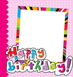 Happy Birthday scrapbook for baby girl vector image vector image