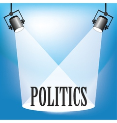 Politics vector image vector image