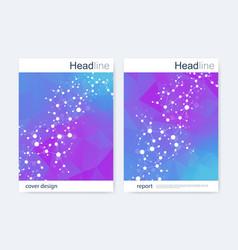 Scientific brochure design template flyer vector