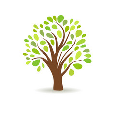 spring tree in a white background abstract vector image