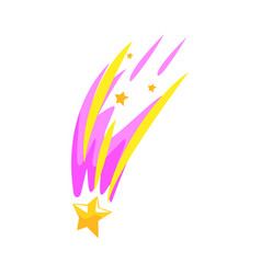 star meteor falling cartoon vector image vector image