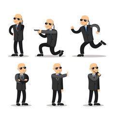 cartoon professional safeguard man security guard vector image vector image
