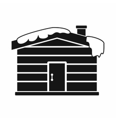 Christmas house icon black simple style vector image