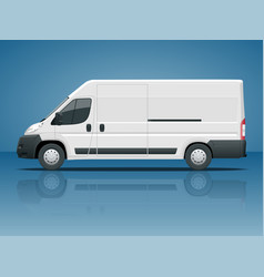 commercial vehicle or logistic car cargo minivan vector image