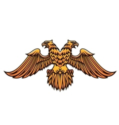 Double headed golden Imperial eagle vector image vector image