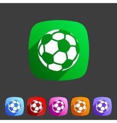 Football soccer icon flat web sign symbol logo vector image